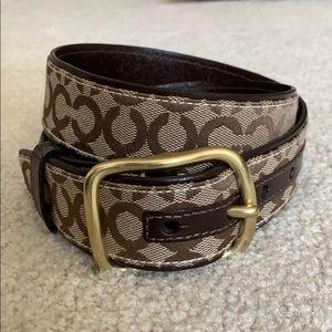 COACH Signature Belt Brown Women's